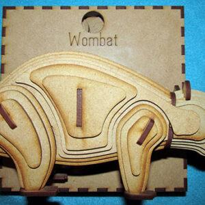 3D Wooden wombat puzzle Sleepy Burrows