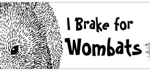 Bumper sticker I brake for wombats
