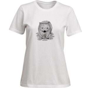 Ladies wombat tshirt