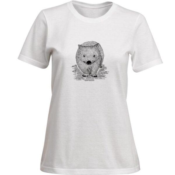 Ladies wombat tshirt