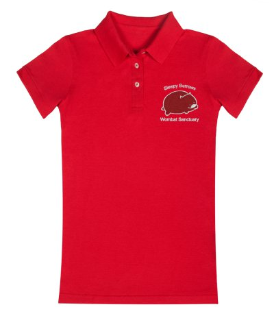 Sleepy Burrows Red Polo Shirt