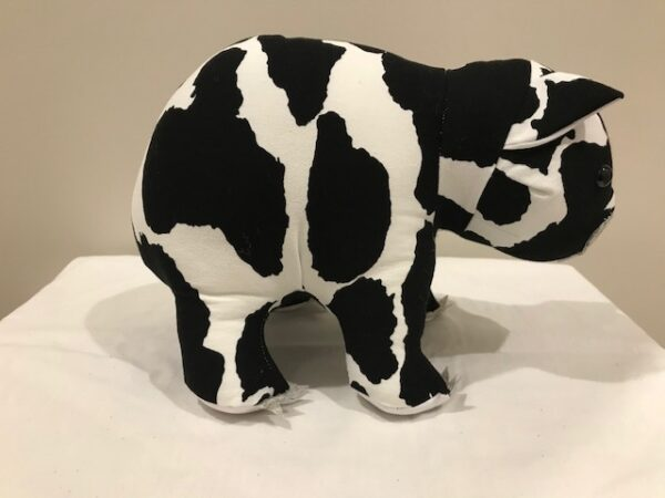 Toy wombat - cow print