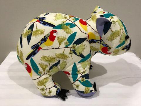Wombat birds print