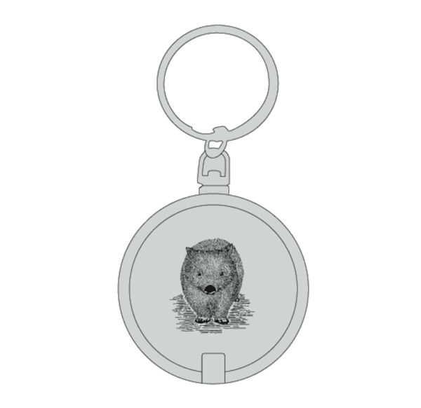 Wombat keyring with torch