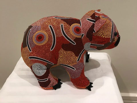 Wombat toy - Aboriginal Art version 2